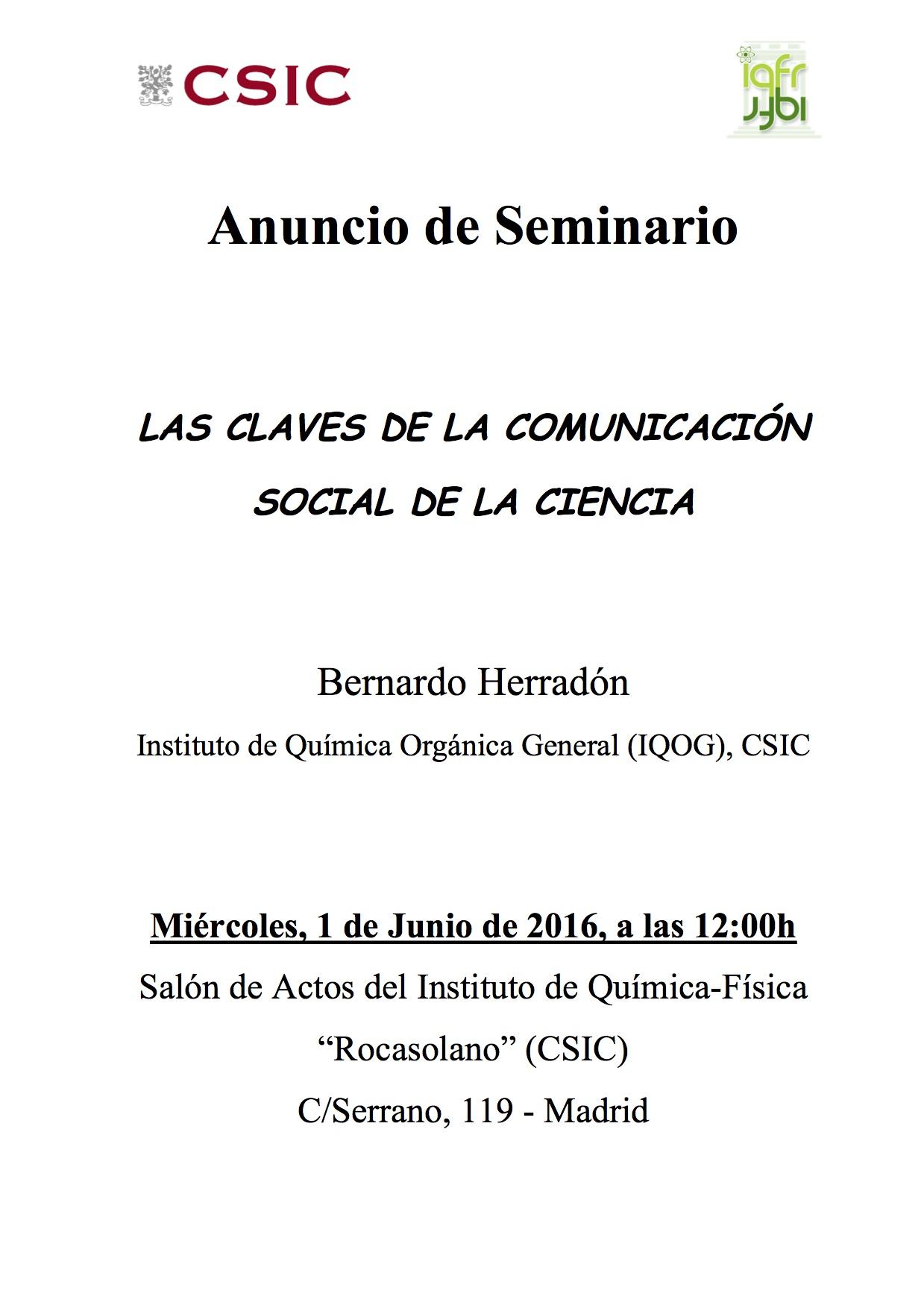 Anuncio_Seminario_Bernardo_Herradon_1Junio2016